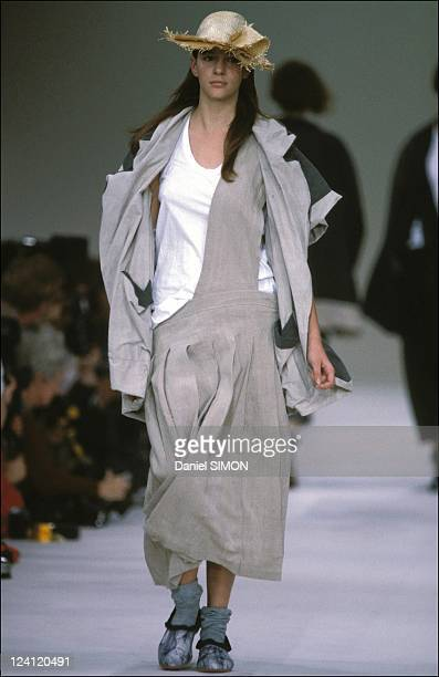 Fashion ready to wear spring -summer in Paris, France on October 19, 1984 - Comme des garcons.
