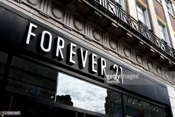 Fashion retail Forever 21 store is pictured in in London on September 30, 2019. Fashion retailer Forever 21 has filed for Chapter 11 bankruptcy...