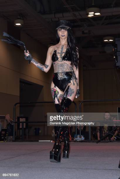 """Fashion runway during day two of the """"19th Annual Northern Ink Xposure Tattoo Convention"""" at the Metro Toronto Convention Centre on June 10, 2017 in..."""
