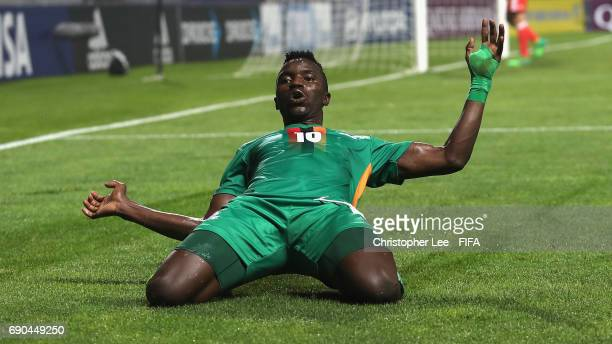 Fashion Sakala of Zambia celebrates scoring their second goal during the FIFA U20 World Cup Korea Republic 2017 Round of 16 match between Zambia and...
