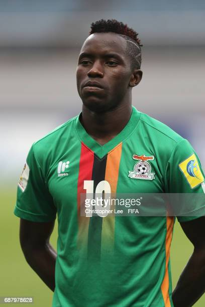 Fashion Sakala of Zambia during the national anthem during the FIFA U20 World Cup Korea Republic 2017 group C match between Zambia and Iran at Jeju...