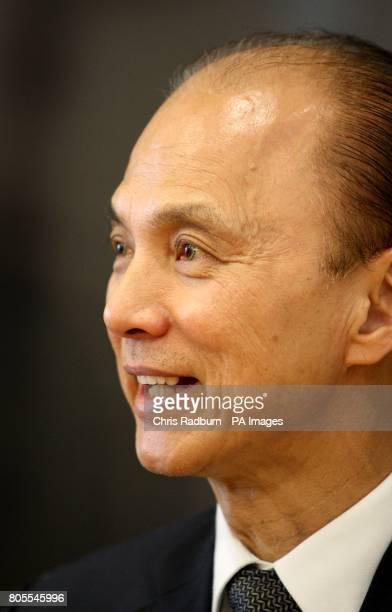 Fashion Shoe Designer Jimmy Choo, looks on during an interview at The De Montfort University, in Leicester, Leicestershire.Picture date: Thursday...