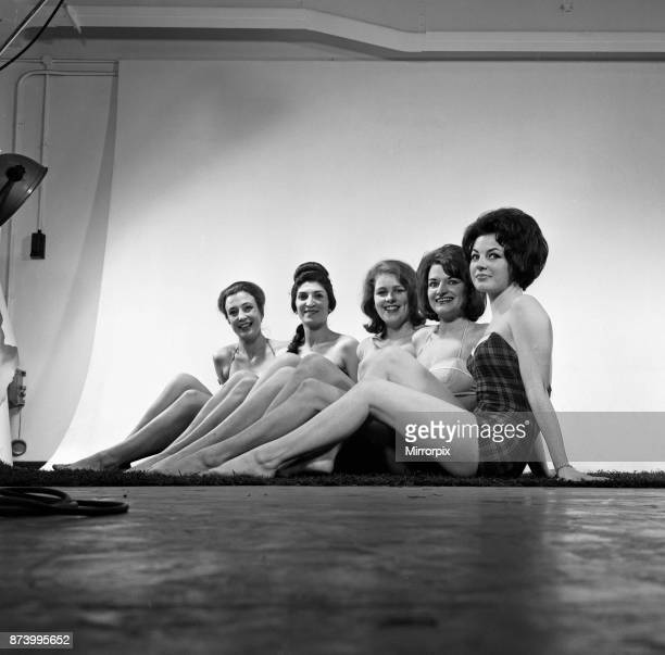Fashion shoot for models wearing swimsuits. They are, Gioia Cecil Bull, Hilda Dabby, Caroline Murphy, Janine Lovey and Delia Smith , 6th February...