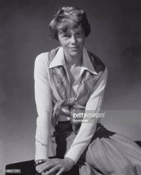 A fashion shot for a magazine from 1931 of Amelia Earhart Amelia Mary Earhart was an American aviation pioneer and author Earhart was the first...