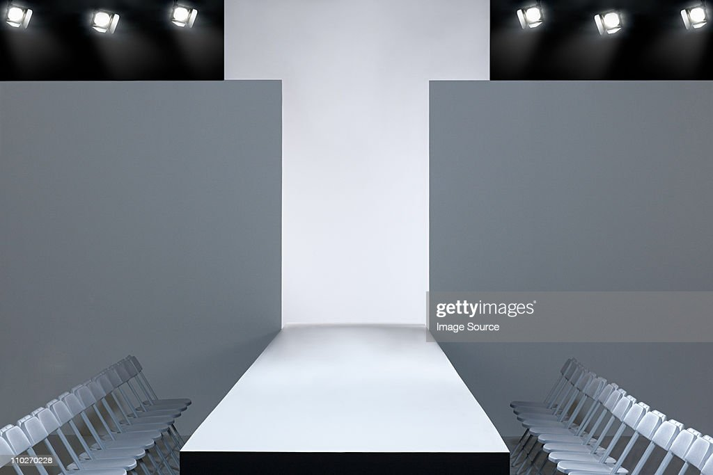Fashion show and empty catwalk : Stock Photo