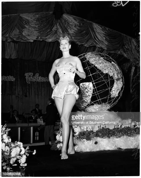 Fashion show at Ambassador, January 10 1954. Marilyn Melton ;Jean Moorhead ;Jerry Sunders ;Linda Kneio ;Rosalie Calvert ;Misha Swanson ;Susan Young...