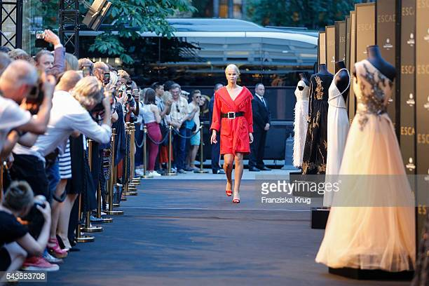 Fashion show at the ESCADA Flagship Store Opening on June 23, 2016 in Duesseldorf, Germany.