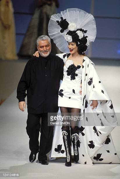Fashion show Haute Couture Spring Sumpmer 1994 in Paris France in January 1994 Paco Rabanne