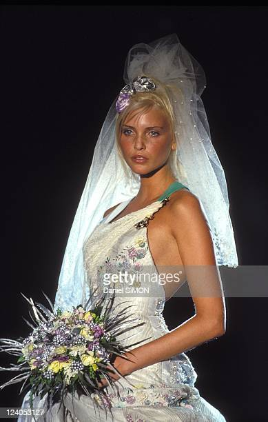 Fashion show Haute Couture Spring/Sumpmer 1994 in Paris France in January 1994 Versace