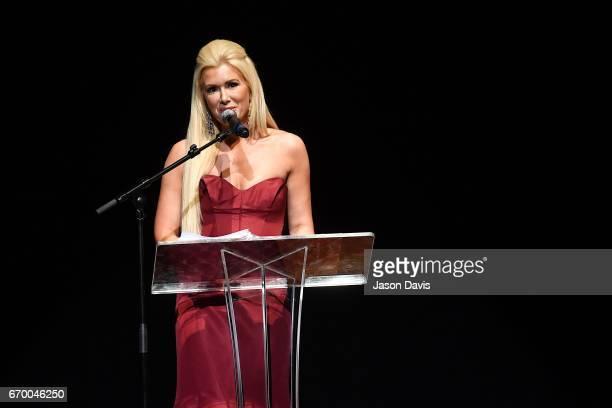 Fashion Show Host Allison DeMarcus speaks at Schermerhorn Symphony Center on April 18 2017 in Nashville Tennessee