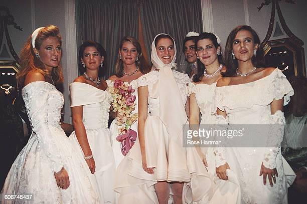 Fashion show of Vera Wang bridalwear at Harry Winston's, USA, 1990.