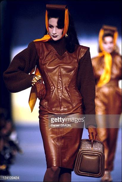 Fashion show ready to wear autumn winter 84 in Paris France on March 18 1983 Thierry Mugler