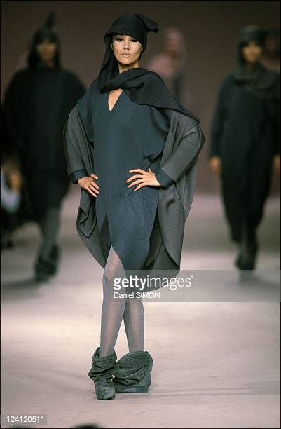 Fashion show ready -to -wear Fall -Winter in Paris, France on March 22, 1985 - Issey Myake.