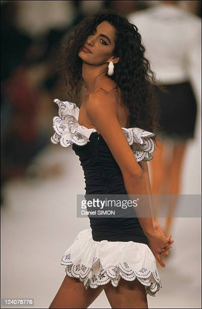 Fashion show ready to wear Spring summer 1991 in Paris France in October 1990 Angelo Tarlazzi