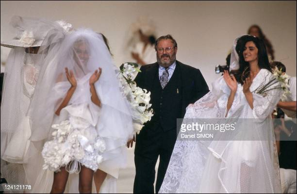 Fashion show ready to wear Spring summer 1991 in Paris France in October 1990 Dior Gianfranco Ferre