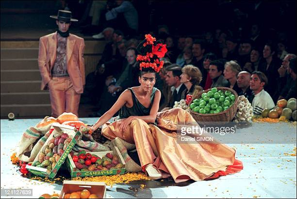 Fashion show: Ready to wear, Spring -Summer 1998 In Paris, France On October 14, 1997 - Jean-Paul Gaultier.