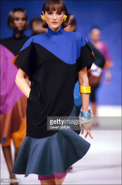 Fashion show ready to wear spring summer in Paris France on October 15 1982 Mugler
