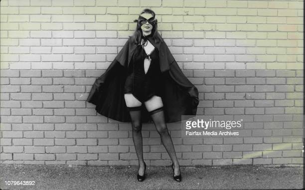 Fashion Story Anna DelosoFashion student Cheryl Rounsefell modeling her outfits she designed October 18 1982