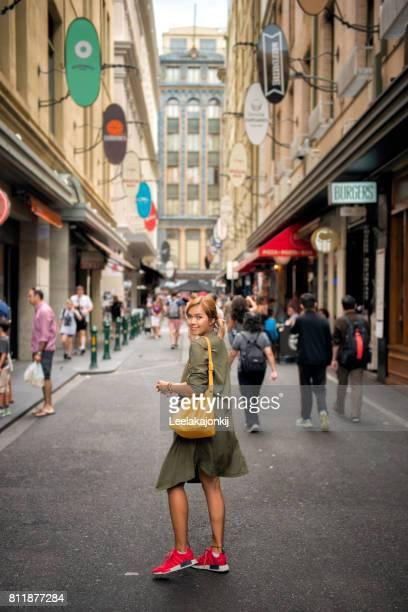 Fashion street in Melbourne