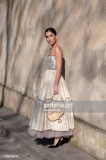 Fashion stylist and Digital Influencer Geraldine Boublil wears all Dior on February 26 2019 in Paris France