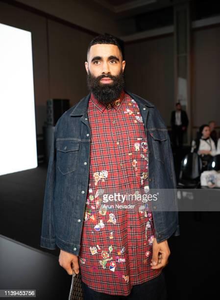 Fashion stylist and fashion icon Majid Karrouch attends Jordan Fashion Week 019 on March 30 2019 at the Kempinski Amman in Amman Jordan
