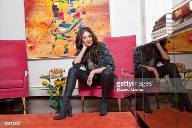 Fashion stylist and TV host Stacy London is photographed for New York Times on November 8 2012 in New York City PUBLISHED IMAGE