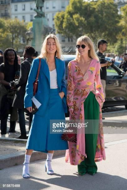 Fashion stylist at Eurowoman Magazine Emili Sindlev wears a Nina Ricci jacket and skirt Tabitha Simmons shoes and Celine earrings with Fashion Editor...