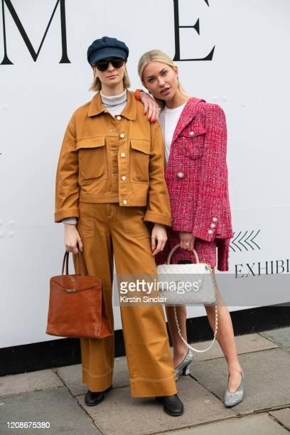 Fashion Stylist Ava De La Flor wears Monki trousers and jacket Ralph Lauren hat Dolce Gabbana sunglasses Zara turtle neck and shoes and a Furla bag...