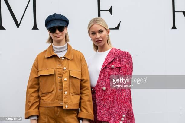 Fashion Stylist Ava De La Flor wears Monki trousers and jacket Ralph Lauren hat Dolce Gabbana sunglasses Zara turtle neck with Digital influencer...