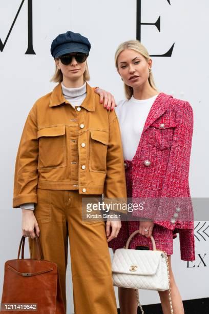 Fashion Stylist Ava De La Flor wears Monki trousers and jacket Ralph Lauren hat Dolce Gabbana sunglasses Zara turtle neck and a Furla bag with...