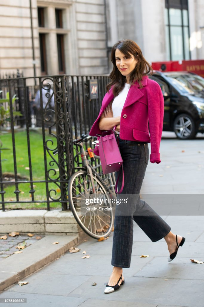 Fashion Stylist Caroline Sieber Wears A Chanel Jacket And Shoes With