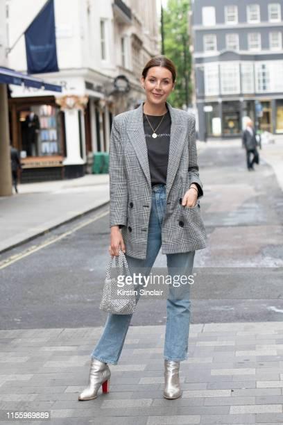 Fashion stylist Creative Director and Cofounder of HM London Creative Holly Macnaghten wears a Bimba and Lola blazer Ksubi T shirt Agolde jeans...