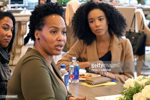 Fashion Stylist Goo Goo Atkins attends QA Luncheon and Advanced Screening of 'Family Or Fiance' at OWN Offices at The Lot on March 14 2019 in West...