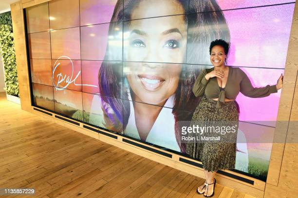 Fashion Stylist Goo Goo Atkins attends QA Luncheon and Advanced Screening of 'Family Or Fiancé' at OWN Offices at The Lot on March 14 2019 in West...