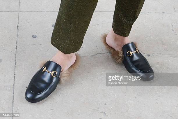 Fashion Stylist Graziano Di Cintio wears Gucci shoes and trousers on day 3 of Paris Collections Men on June 24 2016 in Paris France Graziano Di Cintio