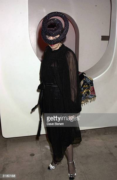 Fashion stylist Isabella Blow at the Swarovski Jewellery Fashion Show held at the Sketch Club on October 3rd 2003 in London