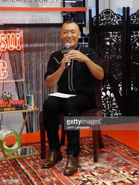 Fashion stylist Joe Zee attends Macy's celebration of the launch of Anna Sui x INC at Macy's Herald Square on September 14 2017 in New York City
