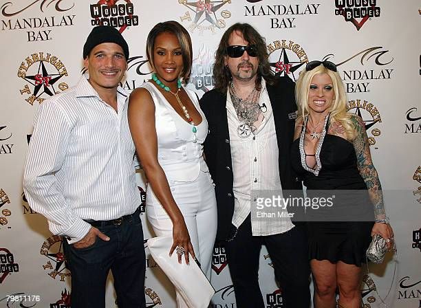 Fashion stylist Phillip Bloch actress Vivica A Fox Mario Barth and his wife Carol Barth arrive at the grand opening of Mario Barth's Starlight Tattoo...