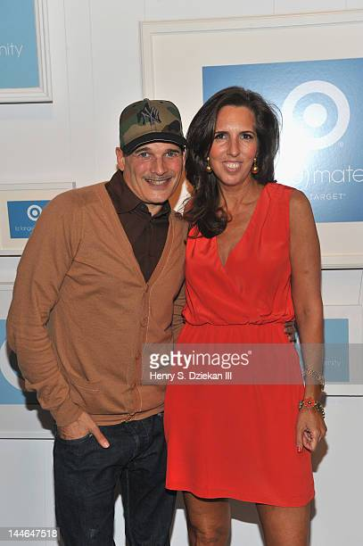 Fashion stylist Phillip Bloch and Target maternity wear designer Liz Lange pose for a portrait at Liz Lange for Target 10th Anniversary Party at The...