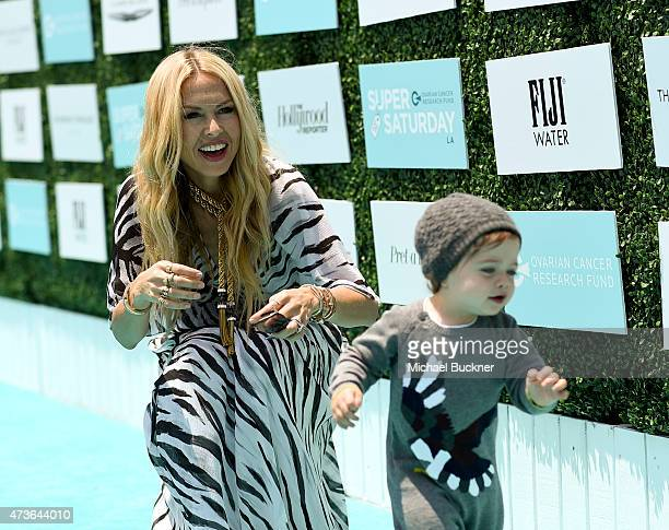 Fashion stylist Rachel Zoe and her son Kaius 'Kai' Jagger Berman attend OCRF's 2nd Annual Super Saturday LA on May 16 2015 in Santa Monica California