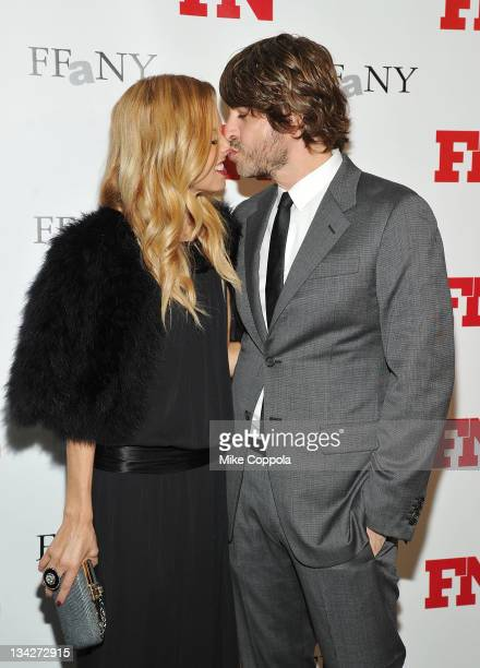 Fashion stylist Rachel Zoe and husband Rodger Berman attend the 25th Annual Footwear News Achievement Awards at the Museum of Modern Art on November...