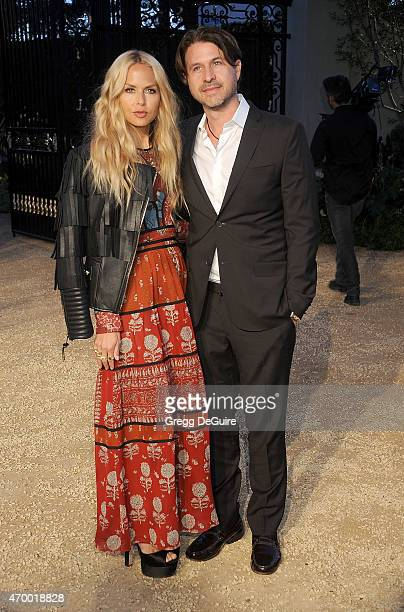 Fashion stylist Rachel Zoe and husband Rodger Berman attend the Burberry London in Los Angeles event at Griffith Observatory on April 16 2015 in Los...