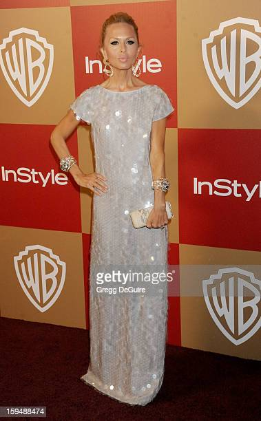 Fashion stylist Rachel Zoe arrives at the InStyle and Warner Bros Golden Globe party at The Beverly Hilton Hotel on January 13 2013 in Beverly Hills...