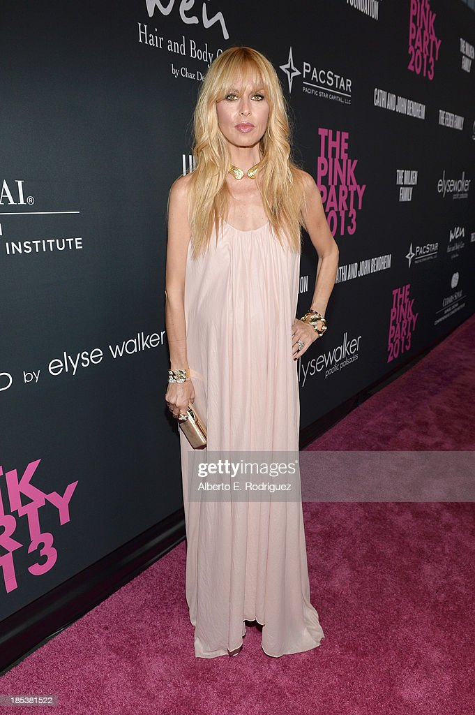 Fashion stylist Rachel Zoe attends Elyse Walker Presents The Pink Party 2013 hosted by Anne Hathaway at Barker Hangar on October 19, 2013 in Santa Monica, California.