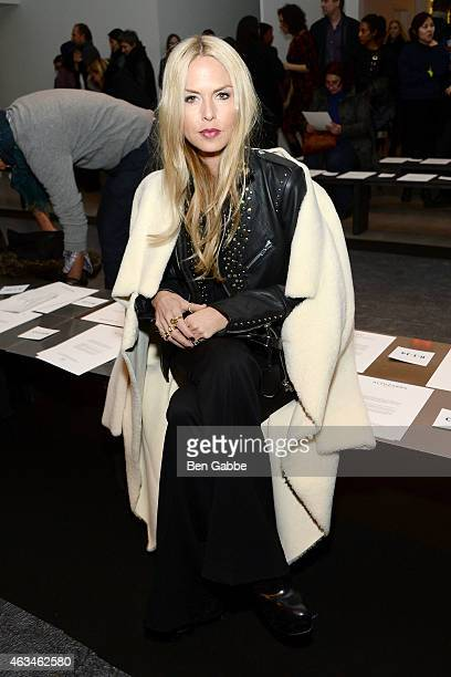 Fashion stylist Rachel Zoe attends the Altuzarra fashion show during MercedesBenz Fashion Week Fall 2015 at Spring Studios on February 14 2015 in New...