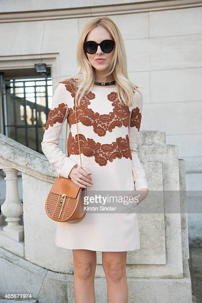 Fashion stylist Shea Marie wears a Chloe bag at the Chloe show on day 6 of Paris Collections Women on March 08 2015 in Paris France