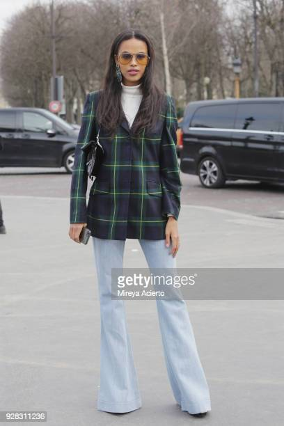 Fashion stylist Suzanna Gembege seen at the Chanel fashion show during Paris Fashion Week Womenswear Fall/Winter 2018/2019 on March 6 2018 in Paris...