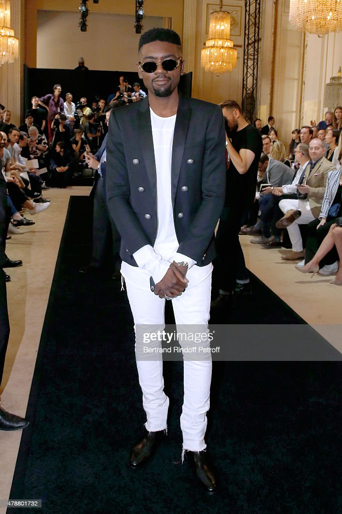 Fashion Stylist Ugo Mozie attends the Balmain Menswear Spring/Summer 2016 show as part of Paris Fashion Week on June 27, 2015 in Paris, France.
