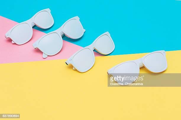 fashion sunglasses in white