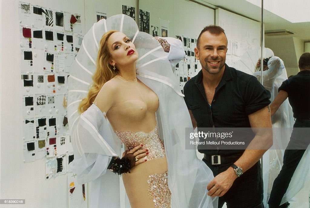 Fashion Supermodel Jerry Hall and Designer Thierry Mugler : Photo d'actualité